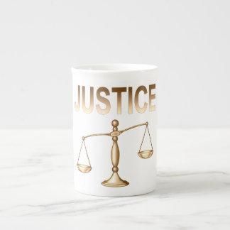 Scales of Justice Bone China Mug