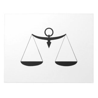 Scales of Justice Memo Notepads