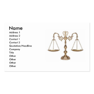 Scales of Justice - Ornate Pack Of Standard Business Cards