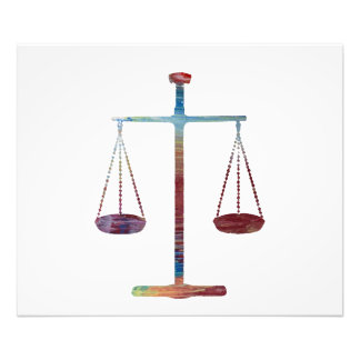 Scales of justice photo print