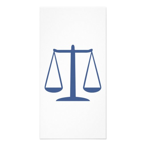 Scales of Justice Photo Card Template