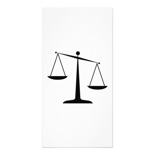 Scales of Justice Customized Photo Card