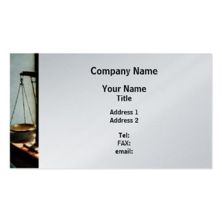 Scales of Justice - Platinum Finish Pack Of Standard Business Cards