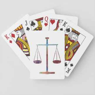 Scales of justice playing cards