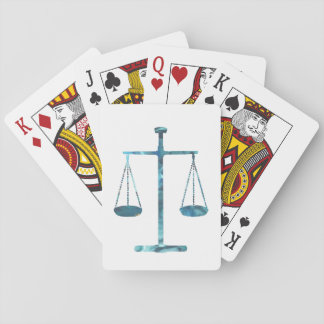 Scales of justice poker deck