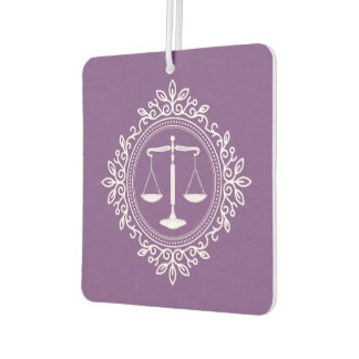 Scales of Justice   Purple Law Gifts Car Air Freshener