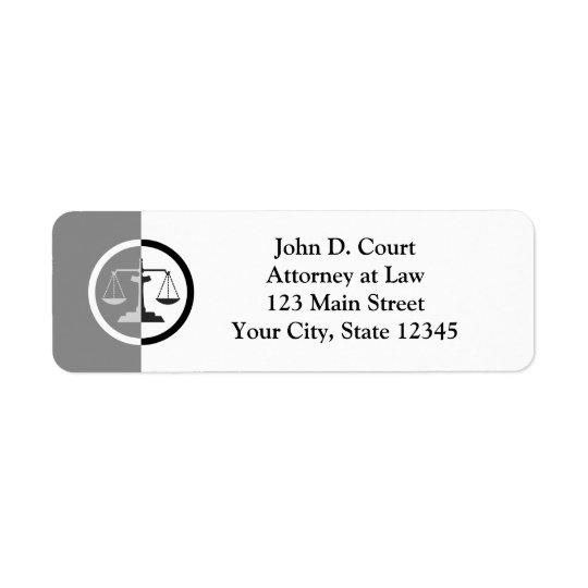 Scales of Justice Return Address Label