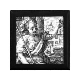 Scales of Justice Small Square Gift Box