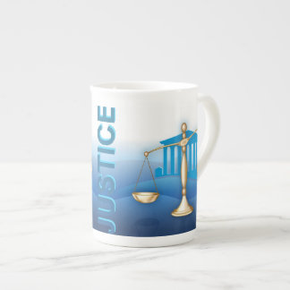 Scales of Justice Bone China Mugs
