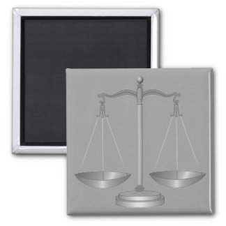 Scales of Justice Square Magnet