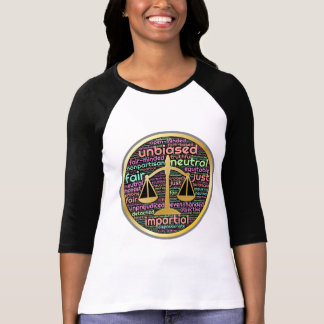 Scales of Justice word-art design by Built4Love T-Shirt
