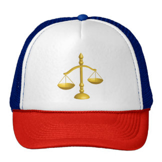 SCALES OF LAW AND JUSTICE CAP