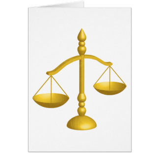 SCALES OF LAW AND JUSTICE CARD