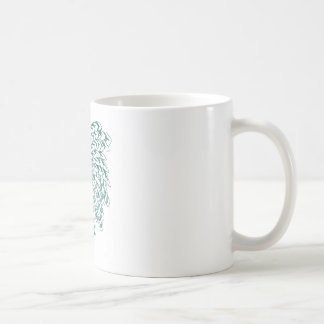 Scales to feathers whirlpool - green coffee mug