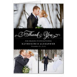 Scallop Band Wedding Thank You Photo Collage Card