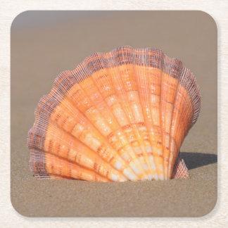Scallop Shell| Crete, Greece Square Paper Coaster