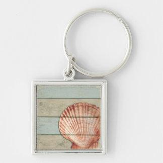 Scallop Shell Key Ring