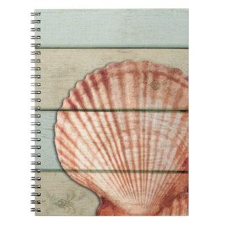Scallop Shell Notebooks