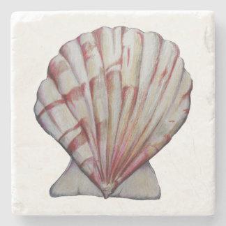 scallop shell stone tile stone coaster