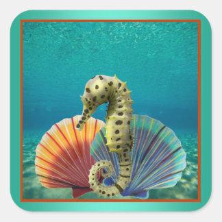 Scallop Shells Square Sticker