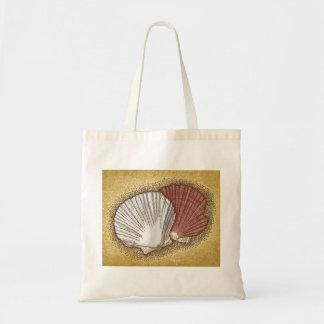 Scallop shells tote bag