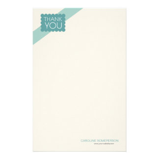 Scalloped Blue Teal | Thank You Stationery