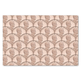 Scalloped Copper Pennies Pattern Design Tissue Paper