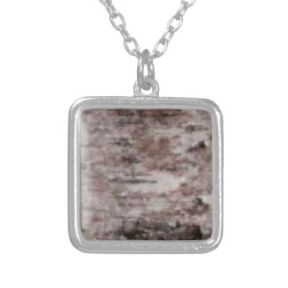 scaly white bark art silver plated necklace