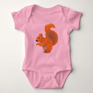 Scampering Squirrel Baby Bodysuit