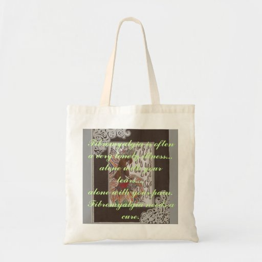 Scan45, Fibromyalgia is often a very lonely ill... Canvas Bags