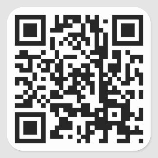 Scan Me Square Stickers