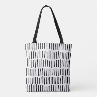 Scandi Dash Black and White Tote Bag