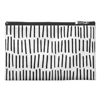 Scandi Dash Black and White Zip Bag