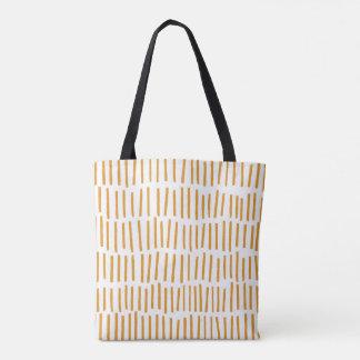 Scandi Dash Orange Tote Bag