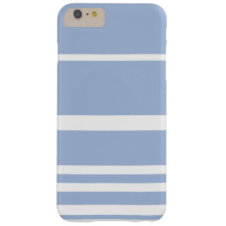 Scandi Pastel Cornflower Stripes Barely There iPhone 6 Plus Case