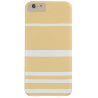Scandi Pastel Lemon Stripes Barely There iPhone 6 Plus Case