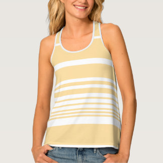 Scandi Pastel Lemon Stripes Singlet