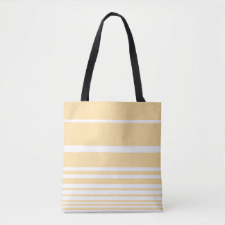 Scandi Pastel Lemon Stripes Tote Bag