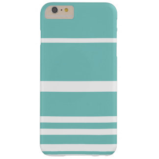 Scandi Pastel Mint Stripes Barely There iPhone 6 Plus Case