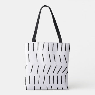 Scandi Stroke Black Tote Bag