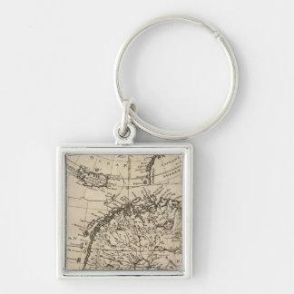Scandinavia 4 Silver-Colored square key ring