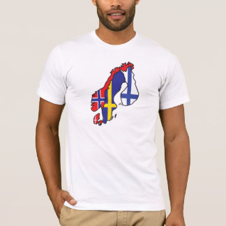 Scandinavia Flag Map T-Shirt