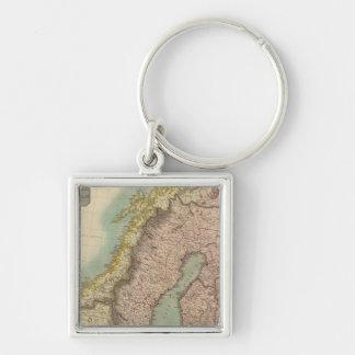 Scandinavia Silver-Colored Square Key Ring