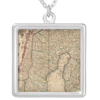 Scandinavia, Sweden, Denmark 2 Silver Plated Necklace