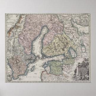 Scandinavian Antique Map Poster