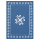 Scandinavian Blue Snowflake Pattern Tablecloth
