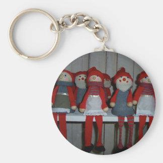 Scandinavian Christmas Dolls Keychains