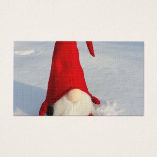 Scandinavian Christmas Gnome Business Card