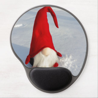 Scandinavian Christmas Gnome Gel Mouse Pad