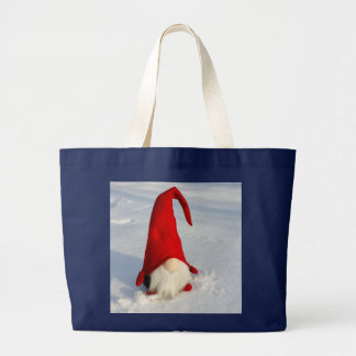 Scandinavian Christmas Gnome Large Tote Bag
